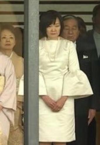 即位礼正殿の儀に出席した安倍昭恵総理夫人