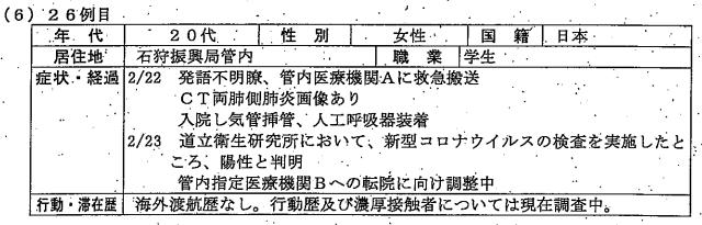 北海道庁発表資料